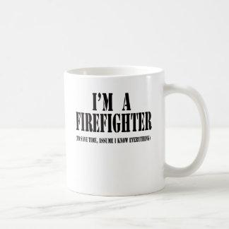 Taza De Café Soy un negro del bombero