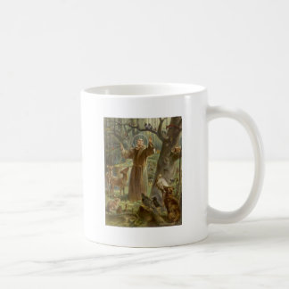 Taza De Café St Francis de Assisi rodeó por los animales