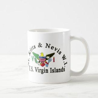 Taza De Café St. San Cristobal y Islas Vírgenes de Nevis/los