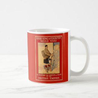 Taza De Café Su necesidad del rey y del país usted, Imperio