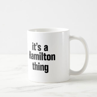 Taza De Café su una cosa de Hamilton