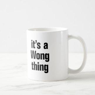 Taza De Café su una cosa de wong