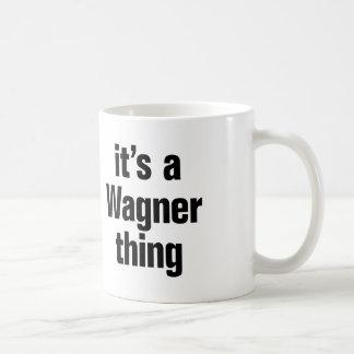 Taza De Café su una cosa del wagner