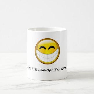 Taza De Café Sunnah a sonreír
