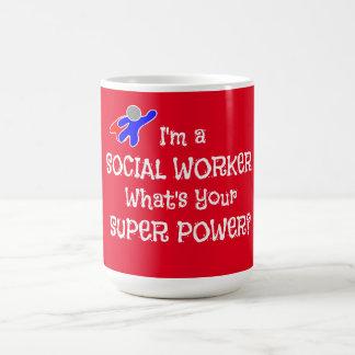 Taza De Café Super héroe del asistente social