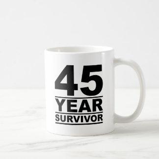 Taza De Café superviviente de 45 años