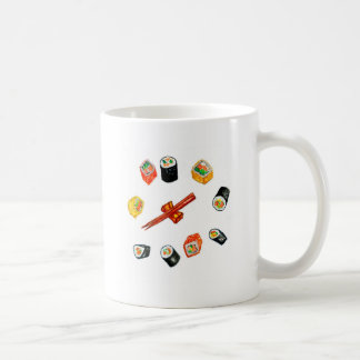 Taza De Café Sushi Watercolor2 determinado