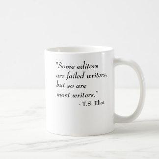 Taza De Café T.S. Cita de Eliot - escritores