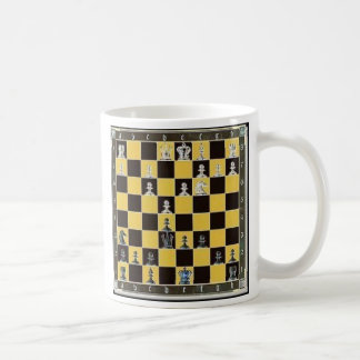 Taza De Café tablero de ajedrez