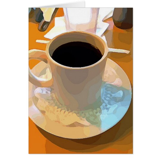 Taza de café tarjeta de felicitación