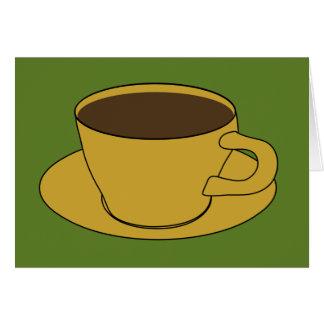 Taza de café - tarjeta retra del saludo/de nota