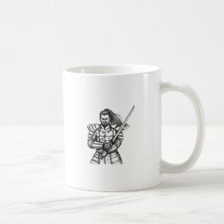 Taza De Café Tatuaje de la postura de la lucha del guerrero del