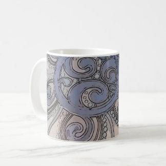 """Taza De Café """"Taza azul del diseño de la onda cerebral"""""""
