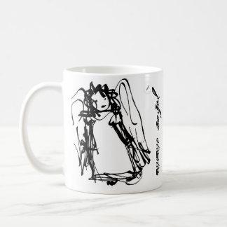 """Taza De Café """"Taza clásica del ángel de la nota"""""""