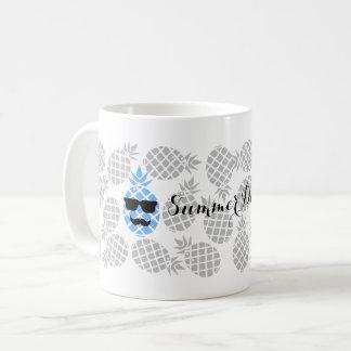 """Taza De Café """"Taza de la piña de los días de verano"""""""