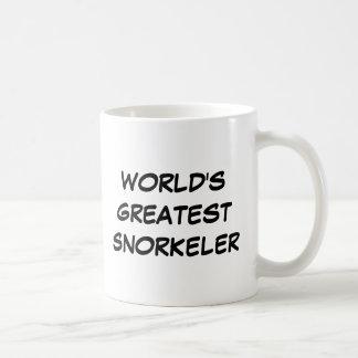 """Taza De Café """"Taza de Snorkeler más grande del mundo"""""""