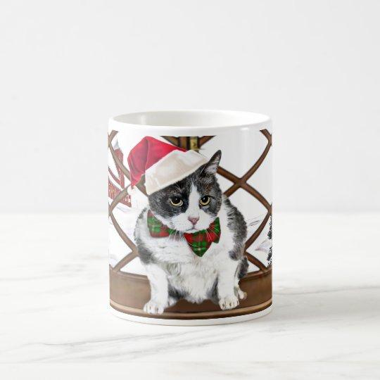 Taza De Café taza:  Felix, el gato, en el navidad