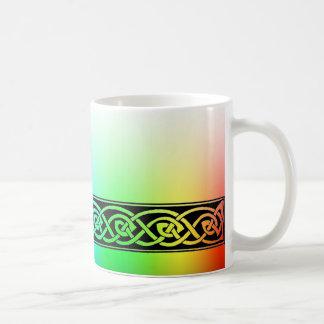 Taza De Café Taza, nudo celta, diseño de arco iris