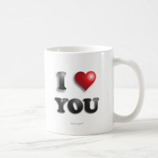 Taza De Café ¡TE AMO!!! Buenas sensaciones felices del mensaje