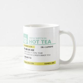 Taza De Café Té caliente de la prescripción divertida