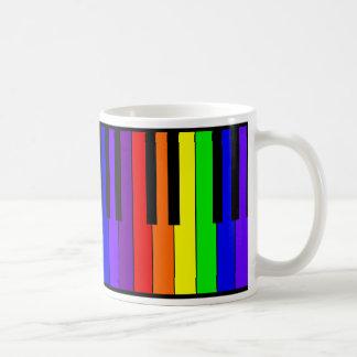 Taza De Café Teclado del arco iris