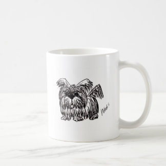 Taza De Café Tejido un perro de la fregona de polvo