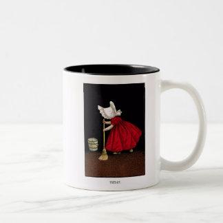 Taza de café temprana de 1900's viernes Sunbonnet