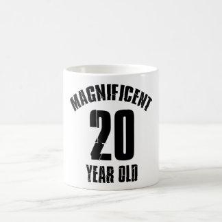 TAZA DE CAFÉ TENDER DISEÑOS DEL CUMPLEAÑOS DE 20 AÑOS