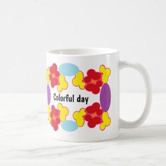 Taza De Café Tener un día colorido