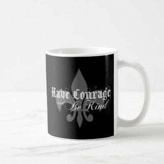 Taza De Café Tenga valor y sea - flor de lis - Lt bueno Gray