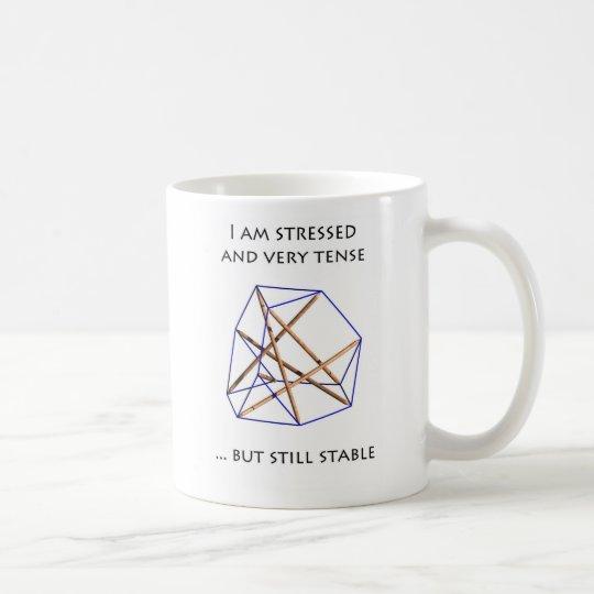 Taza De Café Tensegrity Mug - I am stressed and tense