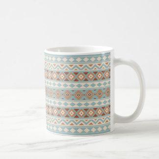 Taza De Café Terracota poner crema azul azteca de Ptn IIIb de