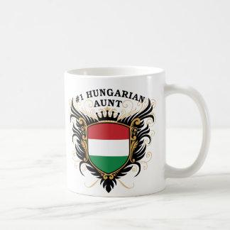 Taza De Café Tía húngara del número uno