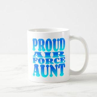 Taza De Café Tía orgullosa de la fuerza aérea