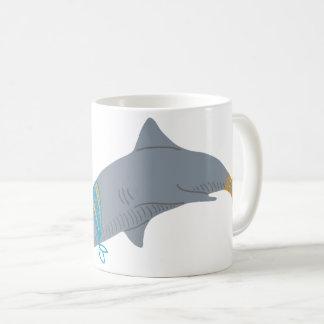 Taza De Café Tiburón artístico fresco