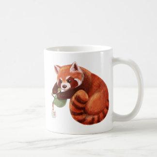 Taza De Café Tiempo del té de la panda roja