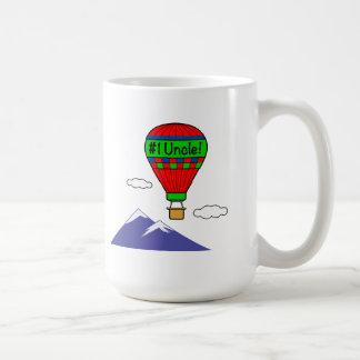 Taza De Café Tío del número uno con el globo del aire caliente