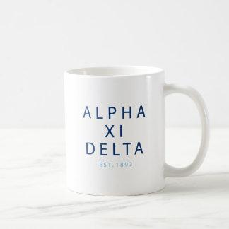 Taza De Café Tipo moderno del delta de la alfa XI