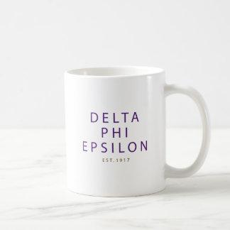Taza De Café Tipo moderno épsilon de la phi del delta