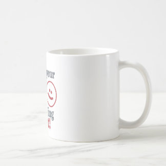 Taza De Café tipo que su esposa guarda el comprobar de mí hacia