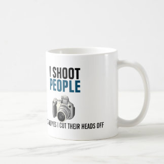 Taza De Café Tiro a gente y corto a veces sus cabezas