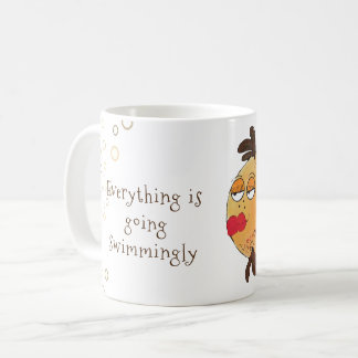 Taza De Café Todo es yendo a las mil maravillas arte caprichoso