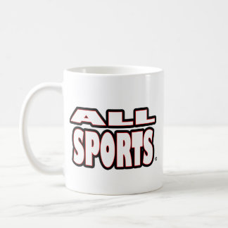 Taza De Café Todos los deportes, Blanco-Letras cuaesquiera