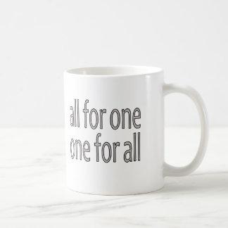 Taza De Café Todos para uno, la O.N.U vierten Tous