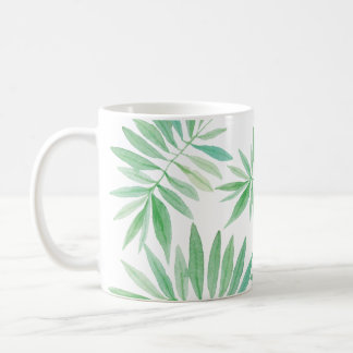 Taza De Café Tormenta verde de la palma de helecho