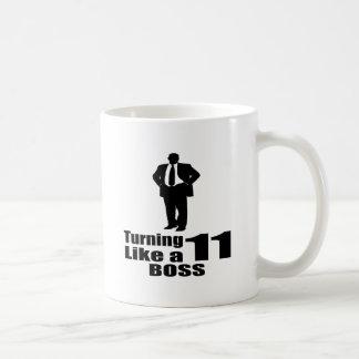 Taza De Café Torneado de 11 como Boss