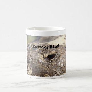 Taza De Café ¡Tortuga de Gopher, café, Stat!