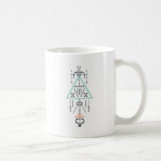 Taza De Café Tótem de Boho, símbolo étnico, Hippie, Azteca,
