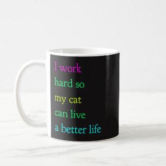 Taza De Café Trabajo difícilmente así que mi gato puede vivir