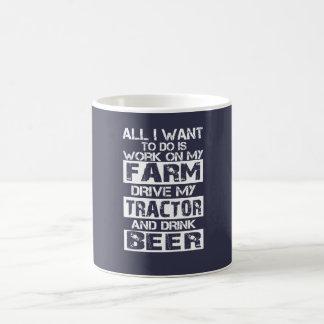 Taza De Café Trabajo sobre mi granja